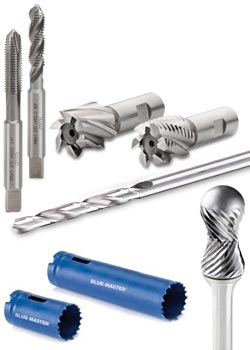 Jobber drills, Milling cutters, Taps and Hole-saws BLUEMASTER